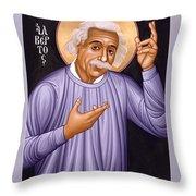 Albert Einstein  Scientist, Humanitarian, Mystic - Rlabe Throw Pillow