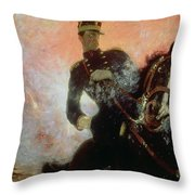 Albert I King Of The Belgians In The First World War Throw Pillow by Ilya Efimovich Repin