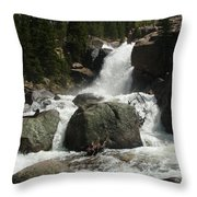 Alberta Falls Rmnp Throw Pillow