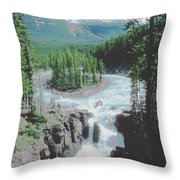 Alberta Island Torrent Throw Pillow