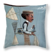 Alberto Santos-dumont Throw Pillow