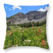 Albion Summer Flowers Throw Pillow