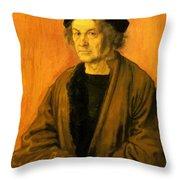 Albrecht Durer Father 1497 Throw Pillow