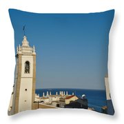 Albufeira Streets Throw Pillow