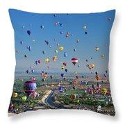 Albuquerque Balloon Fiesta Throw Pillow