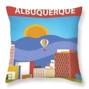 Albuquerque New Mexico Horizontal Skyline Throw Pillow