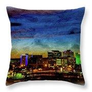 Albuquerque New Mexico Skyline Throw Pillow
