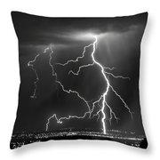 Albuquerque Thunderstorm Throw Pillow
