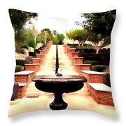 Alcazaba Fountain Throw Pillow