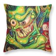 Alcoholic Demon Throw Pillow