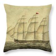 Alcono Sailing Vessel Throw Pillow