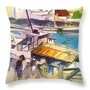 Alcoutim In Portugal 05 Bis Throw Pillow
