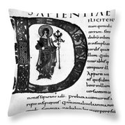 Alcuin Revision Throw Pillow