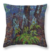 Alders With Ferns Throw Pillow