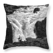Aldeyjarfoss Waterfall Iceland 3381 Throw Pillow