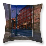 Ale House And Street Lamp Throw Pillow