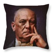 Aleister Crowley, Infamous Occultist Throw Pillow