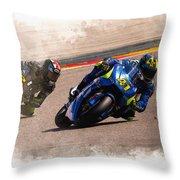 Aleix Espargaro Team Suzuki Ecstar Throw Pillow