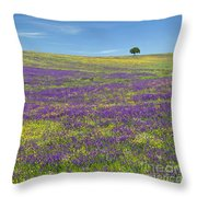 Alentejo Wild Flowers Throw Pillow