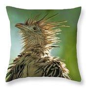 Alert Bird Throw Pillow