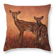 Alertness Throw Pillow