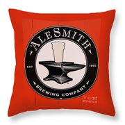Alesmith Sign, Newport R. I. Throw Pillow