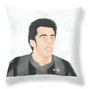 Alessandro Del Piero Throw Pillow by Toni Jaso