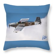 Alex Alverez Friday Morning At Reno Air Race Signature Edition 16x9 Aspect Throw Pillow