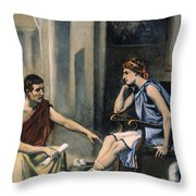Alexander & Aristotle Throw Pillow