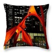 Alexander Calder's Flamingo Throw Pillow