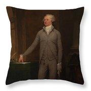 Alexander Hamilton Full-length Portrait Throw Pillow