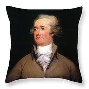 Alexander Hamilton Throw Pillow by Granger