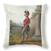 Alexander Ivanovitch Sauerweid 1783-1844 British Army. Private, Life Guards. About 1816 Throw Pillow