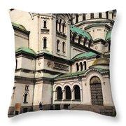 Alexander Nevsky Cathedral Throw Pillow