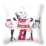 Alexander Ovechkin Washington Capitals Pixel Art 9 Throw Pillow