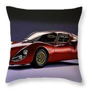 Alfa Romeo 33 Stradale 1967 Painting Throw Pillow