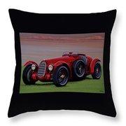 Alfa Romeo 8c 2900a Botticella Spider 1936 Painting Throw Pillow