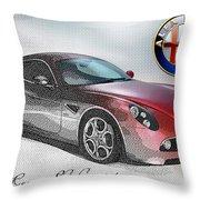 Alfa Romeo 8c Competizione  Throw Pillow