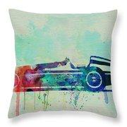 Alfa Romeo Tipo Watercolor Throw Pillow by Naxart Studio