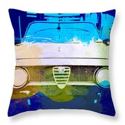 Alfa Romeo Watercolor Throw Pillow