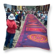 Alfombra In Purples Throw Pillow