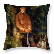 Alfred Berard And His Dog 1881 Throw Pillow