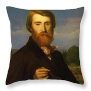Alfred Bruyas Throw Pillow