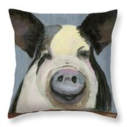 Alfred The Boar Throw Pillow