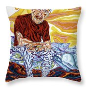 Alfred's Last Days Throw Pillow