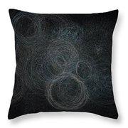 Algae Bloom Swirls 3-3-2016 Throw Pillow