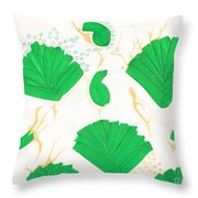 Algae Blooms Throw Pillow