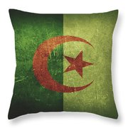 Algeria Distressed Flag Dehner Throw Pillow