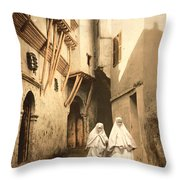 Algeria: Street Scene, C1899 Throw Pillow