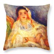 Algerian Woman Seated 1882 Throw Pillow
